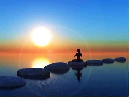 マインドフルネス瞑想の様子
